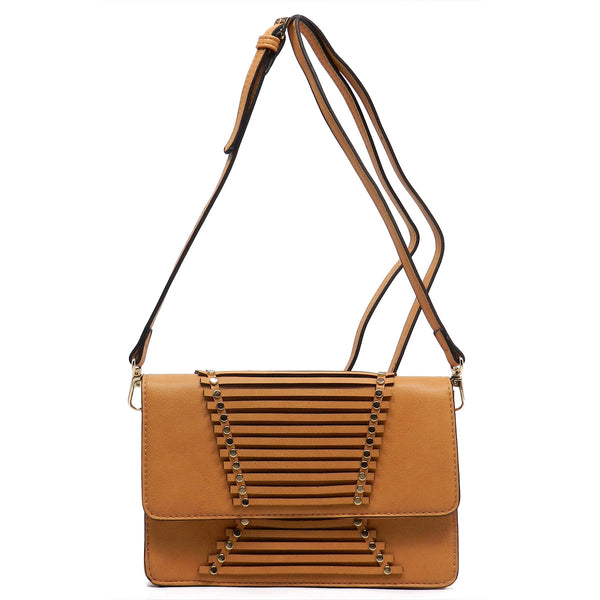 Fashion Flap Over Cross Body Bag [SPC228-CAMEL]
