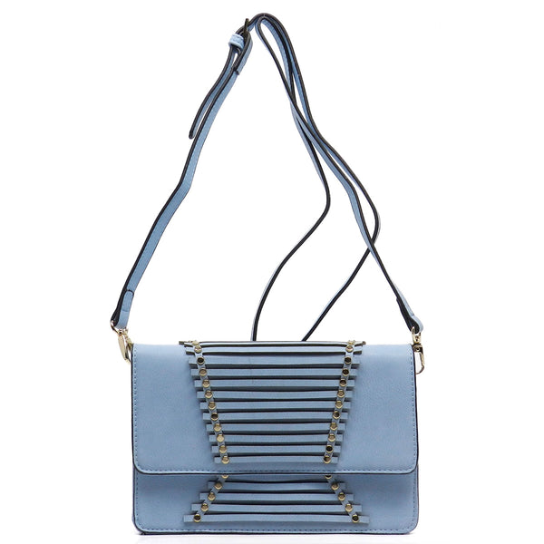 Fashion Flap Over Cross Body Bag [SPC228-BLUE]