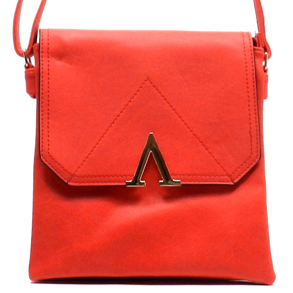 Fashion Bow Flap Over Cross Body Bag [N0038-RED]