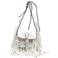 Flap Over Fringe Cross Body Bag [CK004-WHITE]