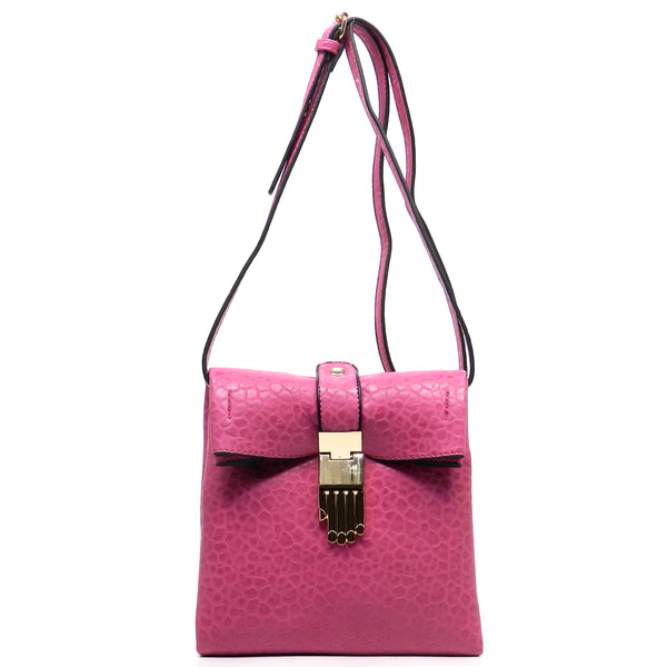 Hand Buckle Cross Body Bag [62239-FUCHSIA]