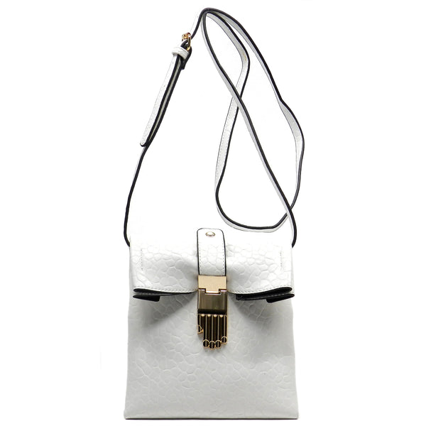 Hand Buckle Cross Body Bag [62239-WHITE]
