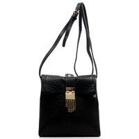 Hand Buckle Cross Body Bag [62239-BLACK]