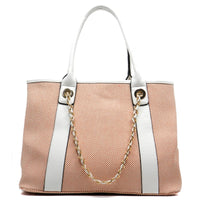 Canvas Chain Strap Tote [62192-ORANGE]