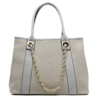 Canvas Chain Strap Tote [62192-GREY]