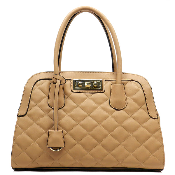 Quilted Dome Satchel [T1555-TAN]
