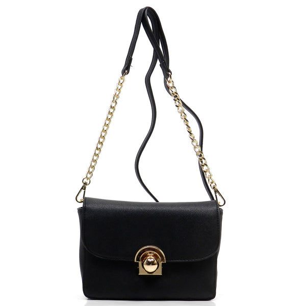 Textured Mini Cross Body Bag [SPC235-BLACK]