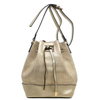 Fashion Bucket Drawstring Shoulder Bag [JU0140-L/GOLD]