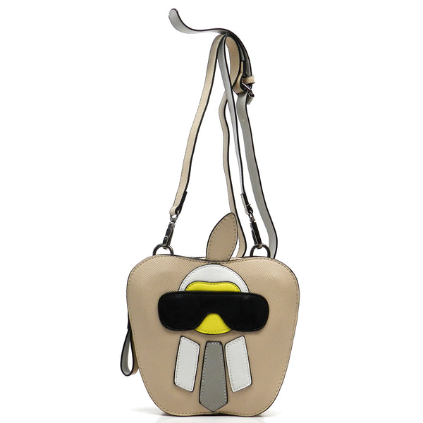 Funny Alien Apple Cute Cross Body Bag [76229HK-BEIGE]