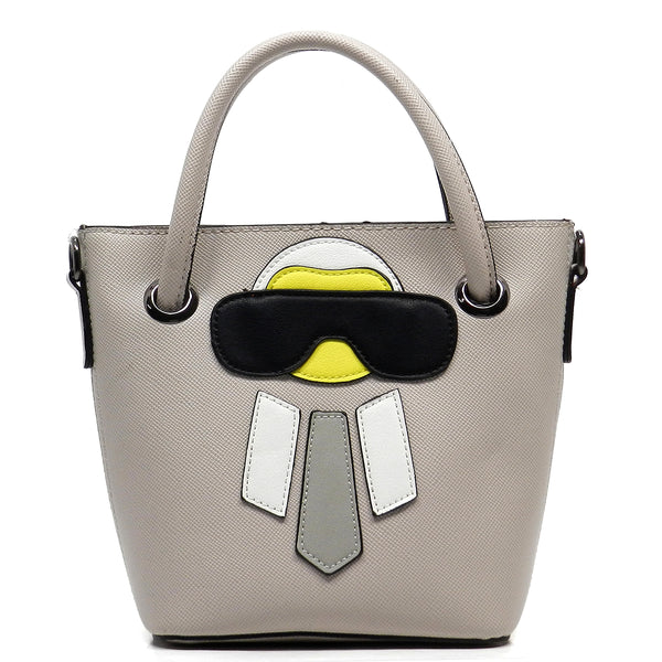 Funny Alien Bucket Tote [76227HK-GREY]