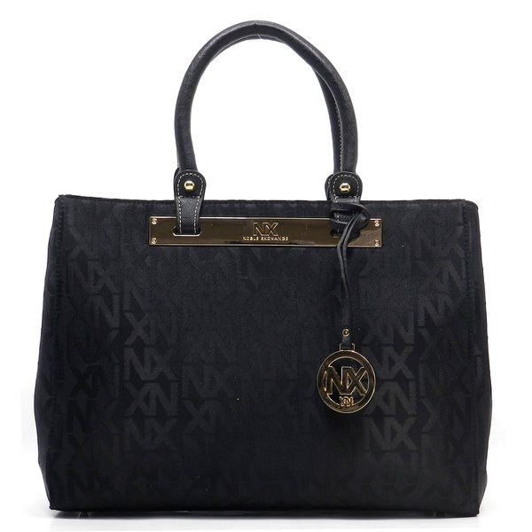 NX Jacquard Signature Day Satchel [NJ2612-BLACK/BLACK]