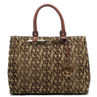 NX Jacquard Signature Day Satchel [NJ2612-TAN]