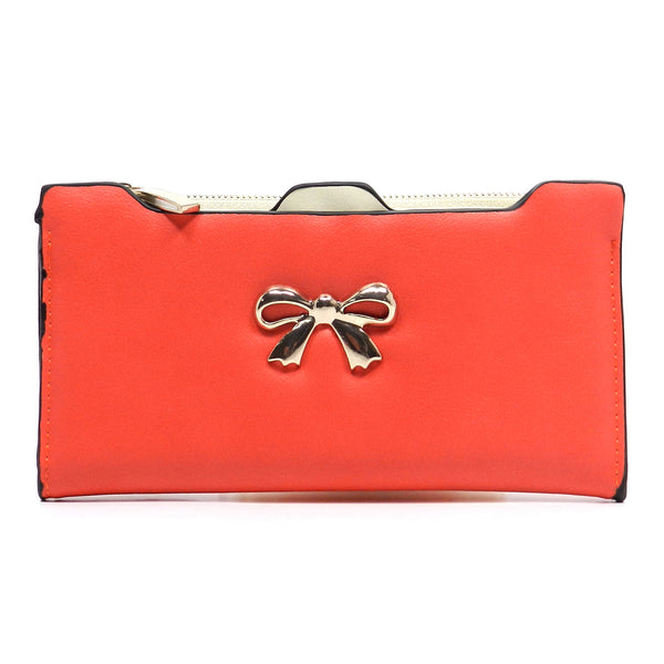 Fashion Bow Clutch Wallet [US1070JO-RED]