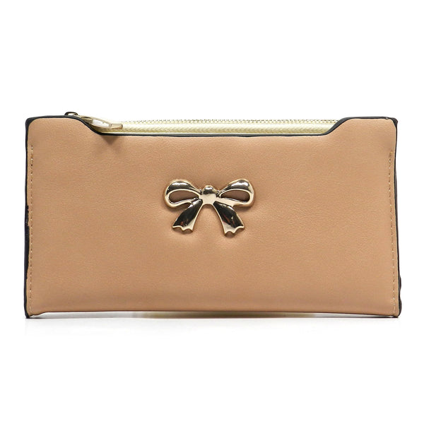 Fashion Bow Clutch Wallet [US1070JO-TAN]