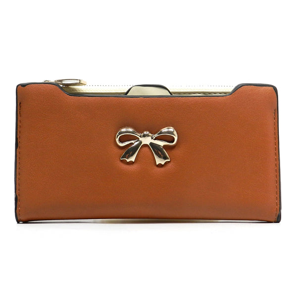 Fashion Bow Clutch Wallet [US1070JO-CAMEL]