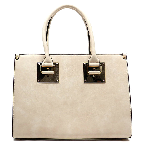 Top handle Box Satchel [MY6171-BEIGE]