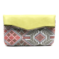 Aztec Printed Clutch [EB1085-YELLOW]