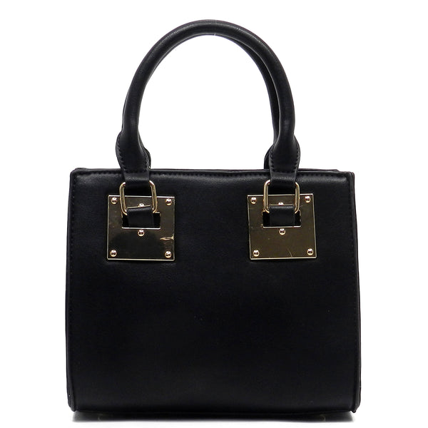 Top Handle Cute Box Satchel [N0059-BLACK]