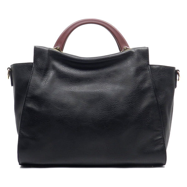 Round Top Handle Satchel [LB102-BLACK]
