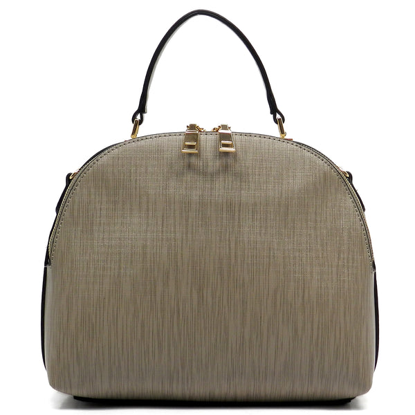 Textured Dome Satchel [LB100-STONE]