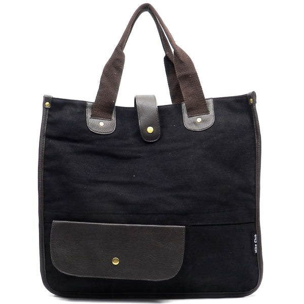 Military Canvas Tote [BGF3167EL-BLACK]