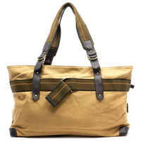 Military Canvas Overnight Tote [LGF1173EL-CAMEL]