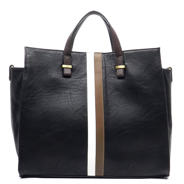 Fashion Box Tote [UN0052-BLACK]