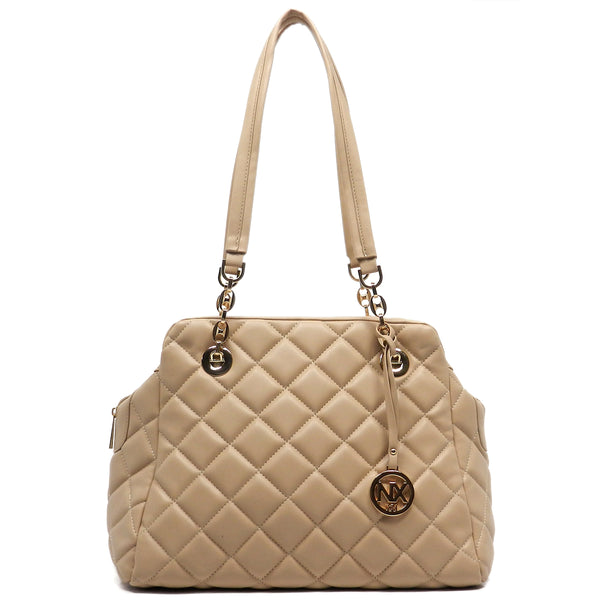 NX Quilted Shoulder Bag [LM2566Q-NUDE]