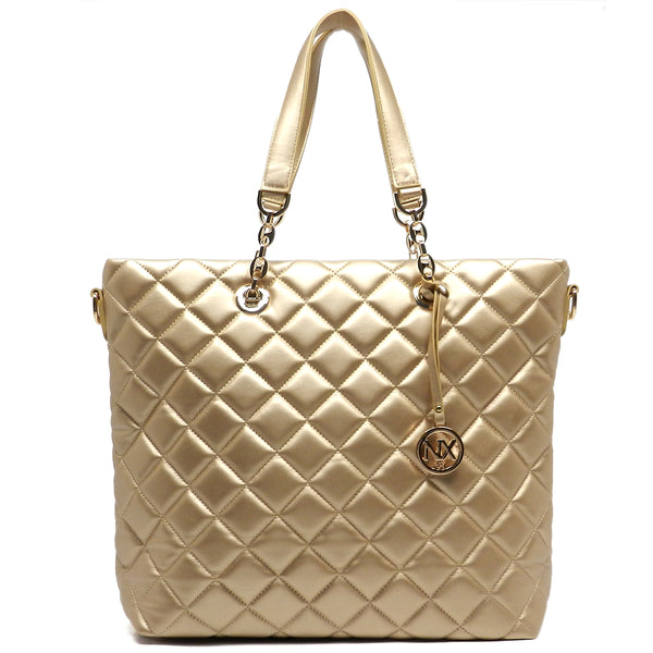 NX Quilted Shopper Tote [LM2565Q-GOLD]