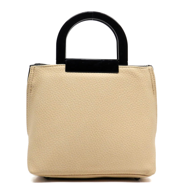 Acrylic Round Top Handle Cute Tote [FN101766-BEIGE]