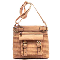 Woven Buckled Pocket Cross Body Bag [LF080-PINK]