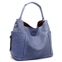 Perforated 2-in-1 Shoulder Bag [LB105 BLUE]