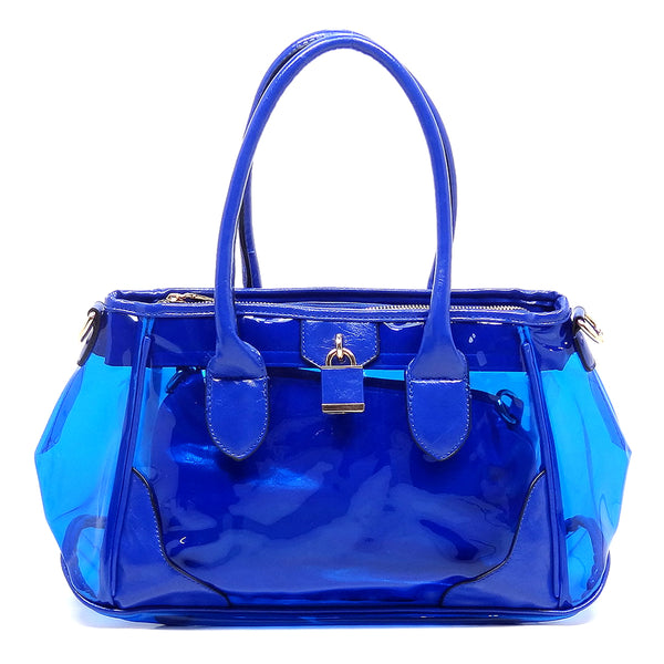 Padlock See Thru 2-in-1 Satchel [L7231MI-BLUE]
