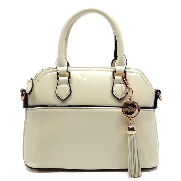 Fashion Cute Dome Satchel [E1040-WHITE]