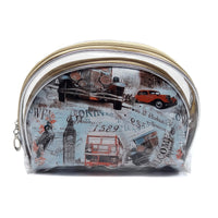 London Print 3pcs Cosmetic Bag [HM00199-C#1]
