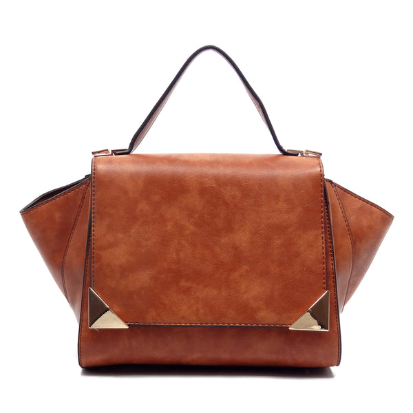 Flapover Satchel [D0270-BROWN]