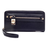 Twist Lock Zip Around Clutch Wallet [SPW1155-BLACK]