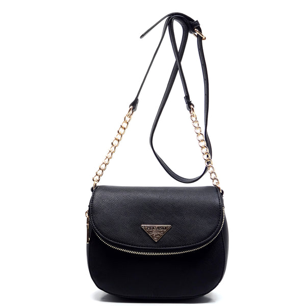 PEGASO Flap Cross Body Bag [SB2633-BLACK]