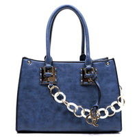 Acrylic Chain Top Handle Box Satchel [AJ136-BLUE]
