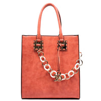 Acrylic Chain Top Handle Box Satchel [AJ138-COR]
