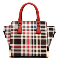 Check Pattern Top Handle Cute Satchel [TP2573-RED]