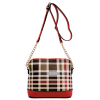Check Pattern Cross Body Bag [TP2619-RED]