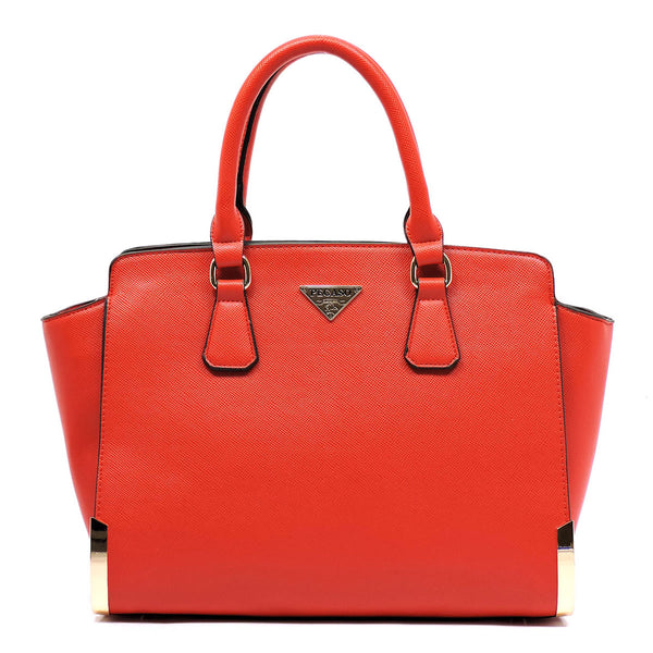 PEGASO Textured Top Handle Satchel [SB2574-RED]