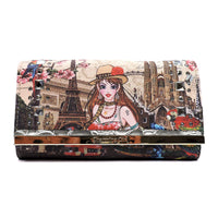 Charming Girl Printed Trifold Wallet [3F034C-SILVER]