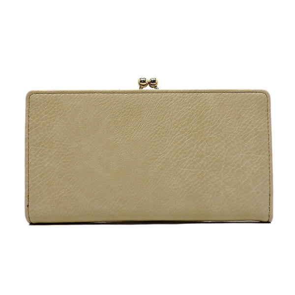 Fashion Kiss Lock Clutch Wallet [US1068-TAN]