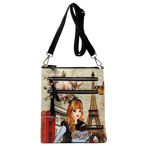 Fabulous Picture Cross Body Bag [WM231PT-BLACK]
