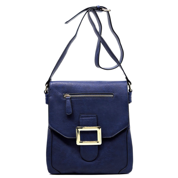 Buckle Flap Cross Body Bag [MJ0003-N/BL]