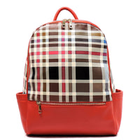 Check Pattern Backpack [TP2636-RED]