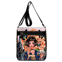 Charming Girl Printed Crossbody Bag [2L1237-BLACK]