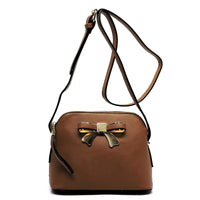 Fashion Bow Dome Crossbody Bag [W1203G-TAUPE]